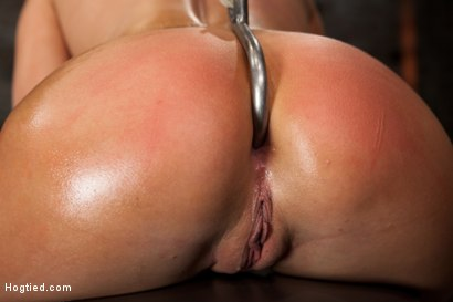 Photo number 8 from Huge tits, perfect ass, nipples tormented, skull brutally fucked, ass hooked, made to cum over & over shot for Hogtied on Kink.com. Featuring Charisma Cappelli in hardcore BDSM & Fetish porn.