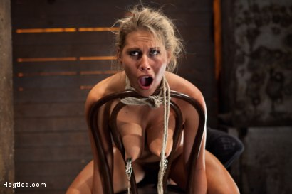 Photo number 6 from Huge tits, perfect ass, nipples tortured, skull brutally fucked, ass hooked, made to cum over & over shot for Hogtied on Kink.com. Featuring Charisma Cappelli in hardcore BDSM & Fetish porn.
