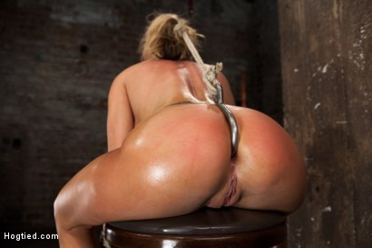 Photo number 9 from Huge tits, perfect ass, nipples tortured, skull brutally fucked, ass hooked, made to cum over & over shot for Hogtied on Kink.com. Featuring Charisma Cappelli in hardcore BDSM & Fetish porn.
