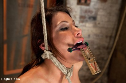 Photo number 13 from 1 of Porns Hottest Bodies steps into the dark world of BDSM. Someone stepped into the wrong basement shot for Hogtied on Kink.com. Featuring Aleksa Nicole in hardcore BDSM & Fetish porn.