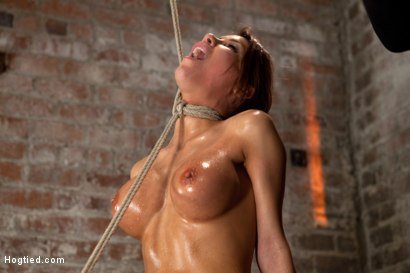 Photo number 12 from 1 of Porns Hottest Bodies steps into the dark world of BDSM. Someone stepped into the wrong basement shot for Hogtied on Kink.com. Featuring Aleksa Nicole in hardcore BDSM & Fetish porn.