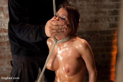 Photo number 10 from 1 of Porns Hottest Bodies steps into the dark world of BDSM. Someone stepped into the wrong basement shot for Hogtied on Kink.com. Featuring Aleksa Nicole in hardcore BDSM & Fetish porn.
