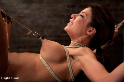 Photo number 10 from Aleska Nicole Fucked Mercilessly shot for Hogtied on Kink.com. Featuring Aleksa Nicole in hardcore BDSM & Fetish porn.