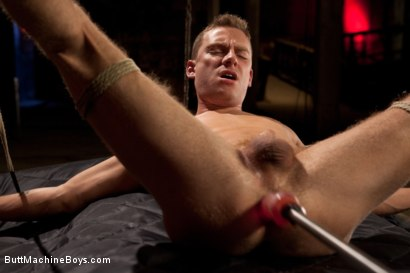 Photo number 7 from Sebastian Keys endures extreme fucking machines shot for Butt Machine Boys on Kink.com. Featuring Sebastian Keys in hardcore BDSM & Fetish porn.