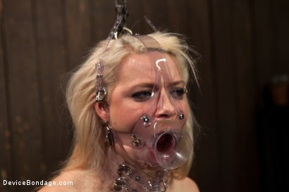 Photo number 8 from Hot Blonde Anikka Albright's FIRST BONDAGE SHOOT EVER! shot for Device Bondage on Kink.com. Featuring Anikka Albrite in hardcore BDSM & Fetish porn.