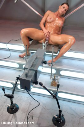 Photo number 14 from Muscly Weightlifter Babe Machine Fucked in Her Pussy and Ass shot for Fucking Machines on Kink.com. Featuring Ariel X in hardcore BDSM & Fetish porn.