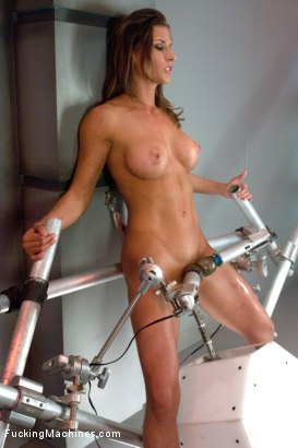 Photo number 3 from Muscly Weightlifter Babe Machine Fucked in Her Pussy and Ass shot for Fucking Machines on Kink.com. Featuring Ariel X in hardcore BDSM & Fetish porn.
