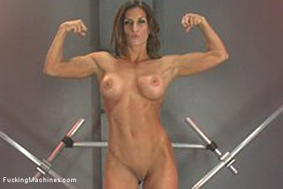 Photo number 1 from Muscly Weightlifter Babe Machine Fucked in Her Pussy and Ass shot for Fucking Machines on Kink.com. Featuring Ariel X in hardcore BDSM & Fetish porn.