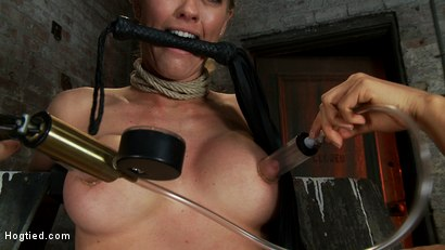 Photo number 3 from Elbows bound, knees on hard wood, nipple suction, neck rope, breath play, face fucking, made to cum! shot for Hogtied on Kink.com. Featuring Isis Love, Matt Williams and Holly Heart in hardcore BDSM & Fetish porn.