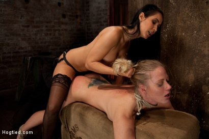 Photo number 13 from Holly gets anal fucked by Isis Love, and skull fucked from The Williams. Made to cum over an over! shot for Hogtied on Kink.com. Featuring Isis Love, Matt Williams and Holly Heart in hardcore BDSM & Fetish porn.
