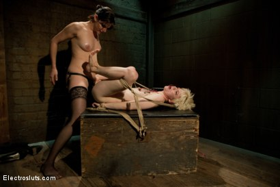 Photo number 9 from Electro-strap-on shot for Electro Sluts on Kink.com. Featuring Alani Pi and Bobbi Starr in hardcore BDSM & Fetish porn.