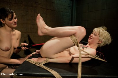 Photo number 8 from Electro-strap-on shot for Electro Sluts on Kink.com. Featuring Alani Pi and Bobbi Starr in hardcore BDSM & Fetish porn.