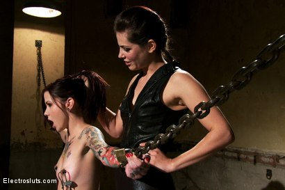 Photo number 14 from Plug-In Corporal Punishment shot for Electro Sluts on Kink.com. Featuring Krysta Kaos and Bobbi Starr in hardcore BDSM & Fetish porn.