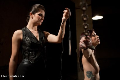 Photo number 8 from Plug-In Corporal Punishment shot for Electro Sluts on Kink.com. Featuring Krysta Kaos and Bobbi Starr in hardcore BDSM & Fetish porn.