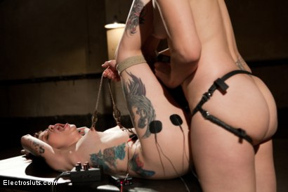 Photo number 7 from Tattooed Cutie gets Electro-Fucked! shot for Electro Sluts on Kink.com. Featuring Krysta Kaos and Bobbi Starr in hardcore BDSM & Fetish porn.