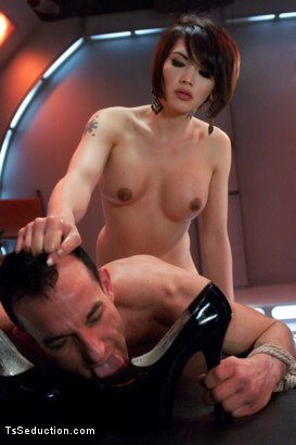 Photo number 9 from Eva Lin's Fancy: You Will Give Yourself to Her shot for TS Seduction on Kink.com. Featuring Eva Lin and Jason Miller in hardcore BDSM & Fetish porn.
