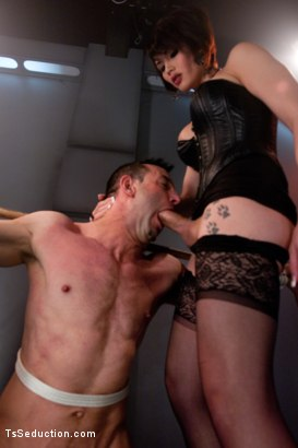 Photo number 5 from Eva Lin's Fancy: You Will Give Yourself to Her shot for TS Seduction on Kink.com. Featuring Eva Lin and Jason Miller in hardcore BDSM & Fetish porn.
