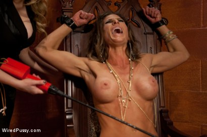 Photo number 4 from Prostitute Suffers to Her Electro Pimp shot for Wired Pussy on Kink.com. Featuring Ariel X and Aiden Starr in hardcore BDSM & Fetish porn.