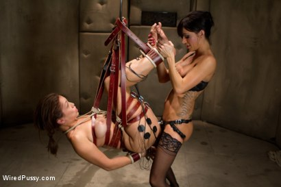 Photo number 12 from Electroshock Therapy for Sex Addiction shot for Wired Pussy on Kink.com. Featuring Gia DiMarco and Audrey Rose in hardcore BDSM & Fetish porn.