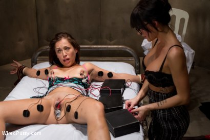 Photo number 4 from Electroshock Therapy for Sex Addiction shot for Wired Pussy on Kink.com. Featuring Gia DiMarco and Audrey Rose in hardcore BDSM & Fetish porn.