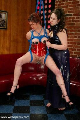 Photo number 13 from Bridgett Harrington and Sasha Monet shot for Wired Pussy on Kink.com. Featuring Bridgett Harrington and Sasha Monet in hardcore BDSM & Fetish porn.