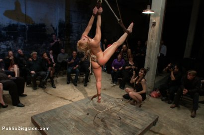 Photo number 3 from Flexible Blonde gets Bound and Fucked for the Crowd shot for Public Disgrace on Kink.com. Featuring Ramon Nomar and Lea Lexis in hardcore BDSM & Fetish porn.