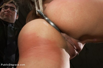 Photo number 4 from Flexible Blonde gets Bound and Fucked for the Crowd shot for Public Disgrace on Kink.com. Featuring Ramon Nomar and Lea Lexis in hardcore BDSM & Fetish porn.