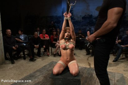 Photo number 7 from Flexible Blonde gets Bound and Fucked for the Crowd shot for Public Disgrace on Kink.com. Featuring Ramon Nomar and Lea Lexis in hardcore BDSM & Fetish porn.
