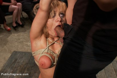 Photo number 6 from Flexible Blonde gets Bound and Fucked for the Crowd shot for Public Disgrace on Kink.com. Featuring Ramon Nomar and Lea Lexis in hardcore BDSM & Fetish porn.