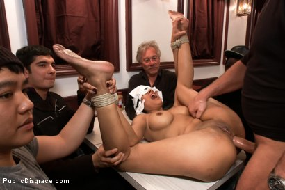 Photo number 14 from Free For All At the Steak House shot for Public Disgrace on Kink.com. Featuring Beretta James and Mark Davis in hardcore BDSM & Fetish porn.
