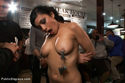 Photo number 3 from Free For All At the Steak House shot for Public Disgrace on Kink.com. Featuring Beretta James and Mark Davis in hardcore BDSM & Fetish porn.