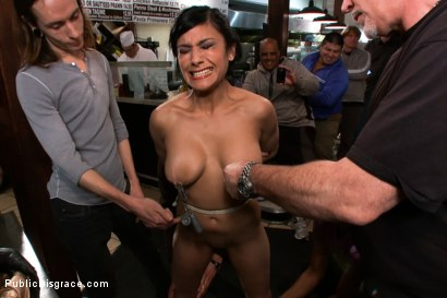 Photo number 2 from Free For All At the Steak House shot for Public Disgrace on Kink.com. Featuring Beretta James and Mark Davis in hardcore BDSM & Fetish porn.