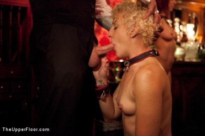 Photo number 14 from Christmas Party: Part One shot for The Upper Floor on Kink.com. Featuring Dylan Ryan, Krysta Kaos, Skin Diamond, Juliette March, Mark Davis, Sparky Sin Claire, The Pope and Maestro Stefanos in hardcore BDSM & Fetish porn.