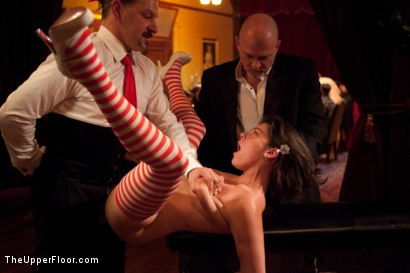 Photo number 24 from Christmas Party: Part One shot for The Upper Floor on Kink.com. Featuring Dylan Ryan, Krysta Kaos, Skin Diamond, Juliette March, Mark Davis, Sparky Sin Claire, The Pope and Maestro Stefanos in hardcore BDSM & Fetish porn.