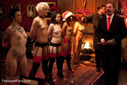 Photo number 34 from Christmas Party: Part One shot for The Upper Floor on Kink.com. Featuring Dylan Ryan, Krysta Kaos, Skin Diamond, Juliette March, Mark Davis, Sparky Sin Claire, The Pope and Maestro Stefanos in hardcore BDSM & Fetish porn.