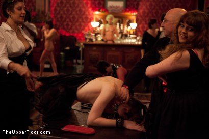 Photo number 9 from Christmas Party: Part One shot for The Upper Floor on Kink.com. Featuring Dylan Ryan, Krysta Kaos, Skin Diamond, Juliette March, Mark Davis, Sparky Sin Claire, The Pope and Maestro Stefanos in hardcore BDSM & Fetish porn.