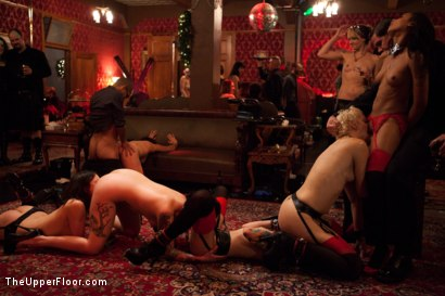 Photo number 3 from Christmas Part Two. shot for The Upper Floor on Kink.com. Featuring Dylan Ryan, Krysta Kaos, Skin Diamond, Juliette March, Mark Davis, Sparky Sin Claire, The Pope and Maestro Stefanos in hardcore BDSM & Fetish porn.