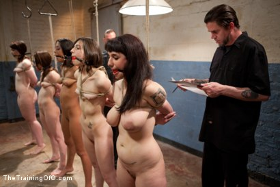 Photo number 10 from 5 Girl Intake<br>Selecting the perfect slave to train shot for The Training Of O on Kink.com. Featuring Lillianne Lane, Lyla Storm, Kayla Kay, Kristine Kahill, Maestro Stefanos and Arabelle Raphael in hardcore BDSM & Fetish porn.