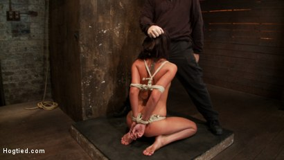 Photo number 5 from 19 yr old girl next door, is severely bound, brutally skull fucked! Hogtied suspended made to cum! shot for Hogtied on Kink.com. Featuring Cassandra Nix in hardcore BDSM & Fetish porn.