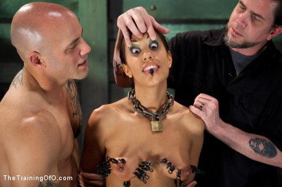 Photo number 10 from Slave Training of Lyla Storm  Day 3-Sexual Abilities shot for The Training Of O on Kink.com. Featuring Lyla Storm and Derrick Pierce in hardcore BDSM & Fetish porn.