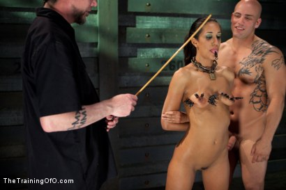Photo number 14 from Slave Training of Lyla Storm  Day 3-Sexual Abilities shot for The Training Of O on Kink.com. Featuring Lyla Storm and Derrick Pierce in hardcore BDSM & Fetish porn.