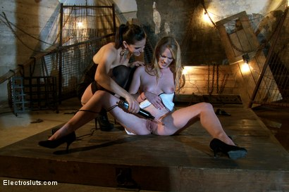 Photo number 7 from Introduction to Electrosex shot for Electro Sluts on Kink.com. Featuring Hydii May and Bobbi Starr in hardcore BDSM & Fetish porn.