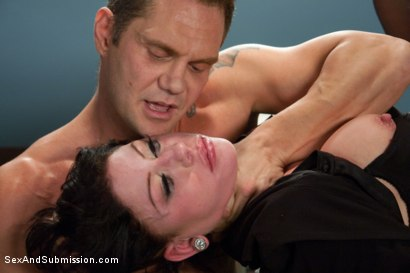 "Photo number 5 from ""Convict Lust"" A Featured Presentation: A Lawyer Brutally Fucked and Dominated by a Vicious Criminal shot for Sex And Submission on Kink.com. Featuring Nacho Vidal and Brooklyn Lee in hardcore BDSM & Fetish porn."