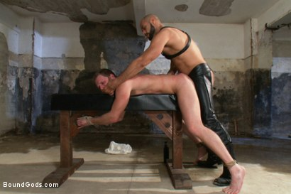Photo number 11 from To the Limit shot for Bound Gods on Kink.com. Featuring Brian Bonds and Leo Forte in hardcore BDSM & Fetish porn.