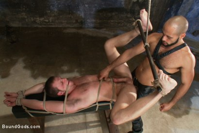 Photo number 9 from To the Limit shot for Bound Gods on Kink.com. Featuring Brian Bonds and Leo Forte in hardcore BDSM & Fetish porn.