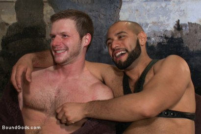 Photo number 15 from To the Limit shot for Bound Gods on Kink.com. Featuring Brian Bonds and Leo Forte in hardcore BDSM & Fetish porn.
