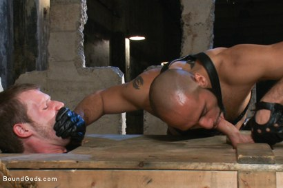 Photo number 3 from To the Limit shot for Bound Gods on Kink.com. Featuring Brian Bonds and Leo Forte in hardcore BDSM & Fetish porn.