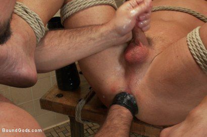 Photo number 12 from Football coach shocks, fucks, and fists his star quarterback shot for Bound Gods on Kink.com. Featuring Dirk Caber and Blake Goodwin in hardcore BDSM & Fetish porn.