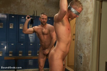Photo number 8 from Football coach shocks, fucks, and fists his star quarterback shot for Bound Gods on Kink.com. Featuring Dirk Caber and Blake Goodwin in hardcore BDSM & Fetish porn.