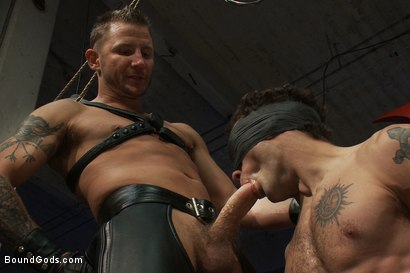 Photo number 5 from Kink Olympics - Live Shoot shot for Bound Gods on Kink.com. Featuring Tony Hunter, Brenn Wyson, DJ and Van Darkholme in hardcore BDSM & Fetish porn.